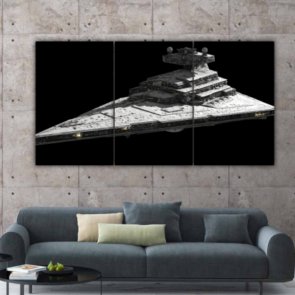 3 Panels Imperial I Class Star Destroyer Multi Canvas Art