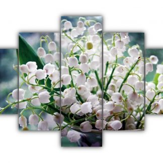 5 Panels Lily of the Valley Multi Canvas Art