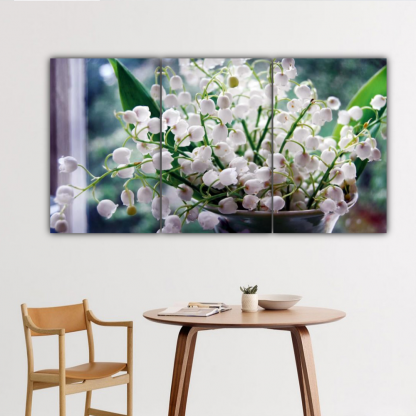 3 Panels Lily of the Valley Multi Canvas Art