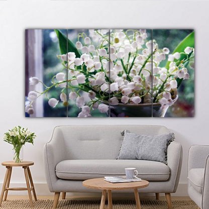 4 Panels Lily of the Valley Multi Canvas Art
