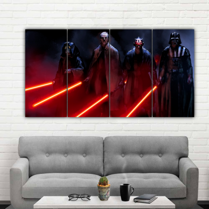 4 Panels Lords Of Dark Side Multi Canvas Art