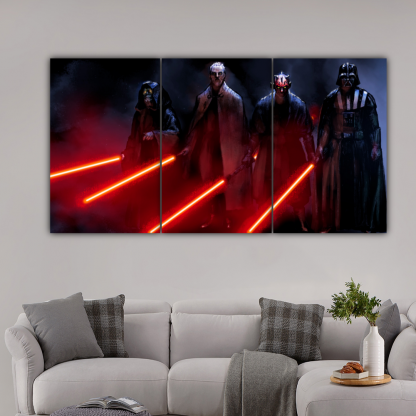 3 Panels Lords Of Dark Side Multi Canvas Art
