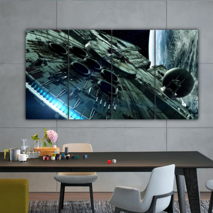4 Panels Mighty Millennium Falcon Multi Canvas Art