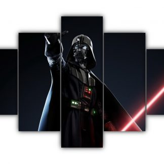 5 Panels Mighty Sith Lord Vader Multi Canvas Art