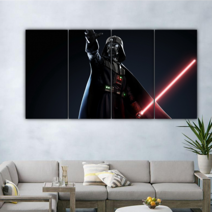 4 Panels Mighty Sith Lord Vader Multi Canvas Art