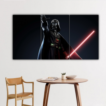 3 Panels Mighty Sith Lord Vader Multi Canvas Art