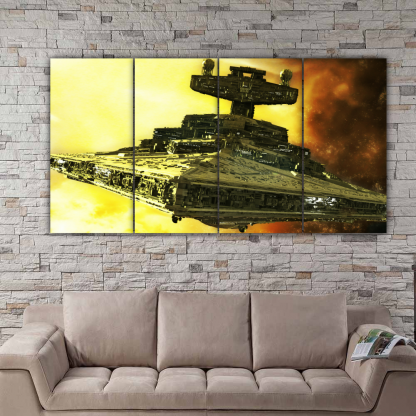 4 Panels Mother Ship of Star Wars Multi Canvas Art