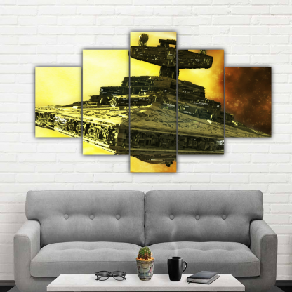 5 Panels Mother Ship of Star Wars Multi Canvas Art