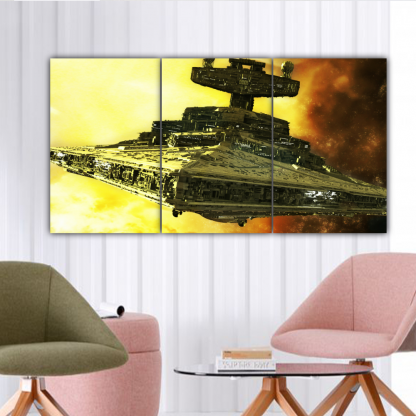 3 Panels Mother Ship of Star Wars Multi Canvas Art