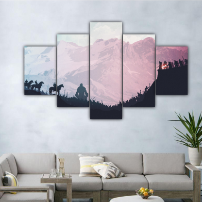 5 Panels Proof for Daenerys Multi Canvas Art