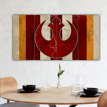 4 Panels Rebel Alliance Helm Multi Canvas Art