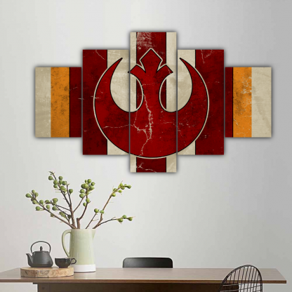 5 Panels Rebel Alliance Helm Multi Canvas Art