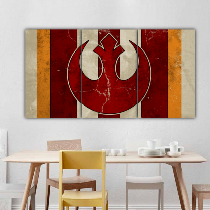3 Panels Rebel Alliance Helm Multi Canvas Art