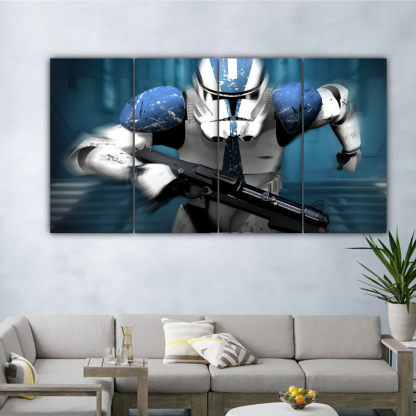 4 Panels Revenge Of The Sith Multi Canvas Art