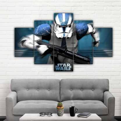 5 Panels Revenge Of The Sith Multi Canvas Art