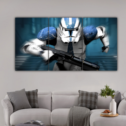 3 Panels Revenge Of The Sith Multi Canvas Art
