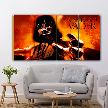 4 Panels Rise Lord Vader Multi Canvas Art