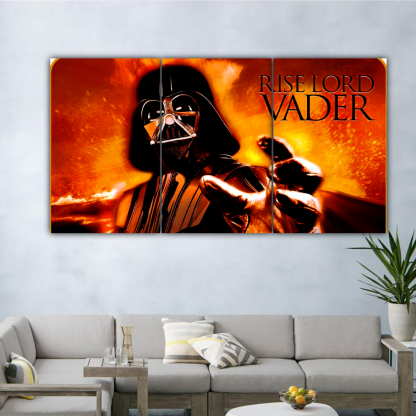 3 Panels Rise Lord Vader Multi Canvas Art