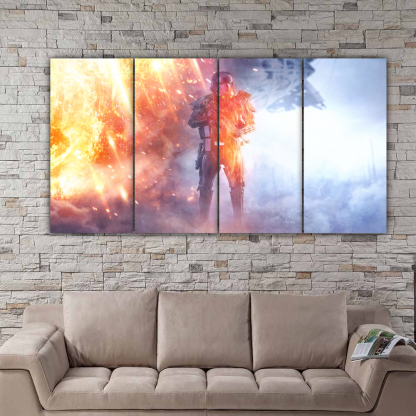 4 Panels Rogue One Death Trooper Multi Canvas Art