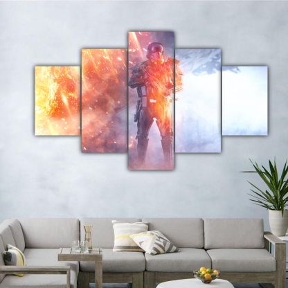 5 Panels Rogue One Death Trooper Multi Canvas Art