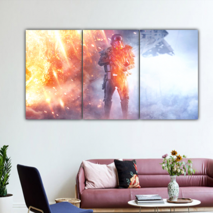 3 Panels Rogue One Death Trooper Multi Canvas Art