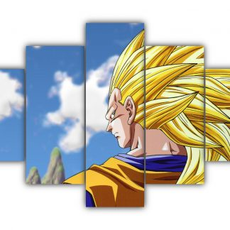 5 Panels SS3 Goku Multi Canvas Art