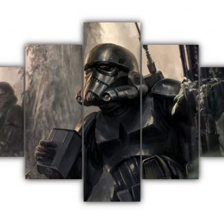 5 Panels Shadow Trooper Multi Canvas Art