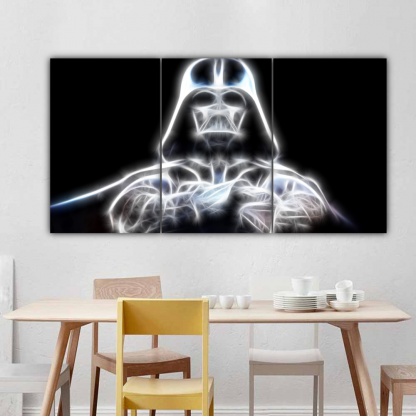 3 Panels Shining Darth Vader Multi Canvas Art