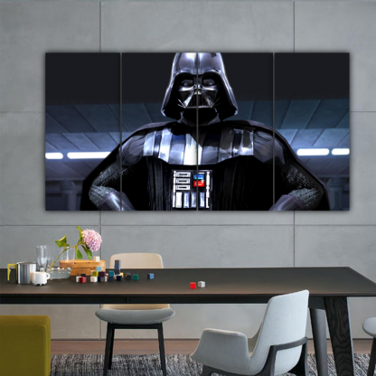 4 Panels Sith Lord Vader Multi Canvas Art