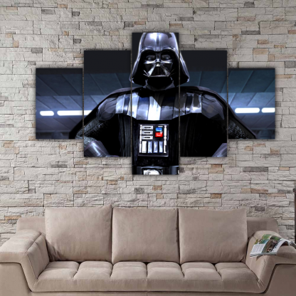 5 Panels Sith Lord Vader Multi Canvas Art