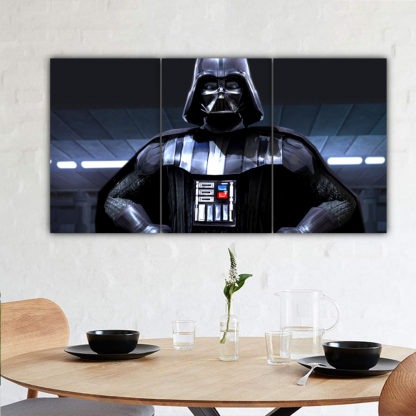 3 Panels Sith Lord Vader Multi Canvas Art