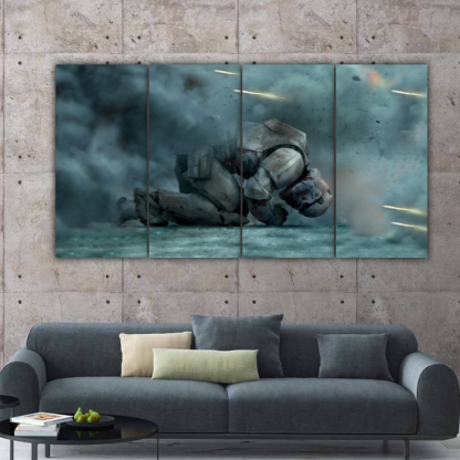 4 Panels Sith Trooper of Star Wars Multi Canvas Art