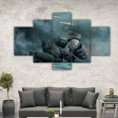 5 Panels Sith Trooper of Star Wars Multi Canvas Art