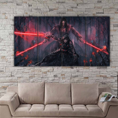 4 Panels Sith Warriors Multi Canvas Art