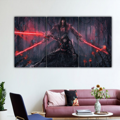 3 Panels Sith Warriors Multi Canvas Art
