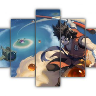 5 Panels Son Goku Multi Canvas Art