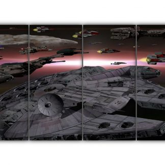 4 Panels Space Ships of Star Wars Multi Canvas Art