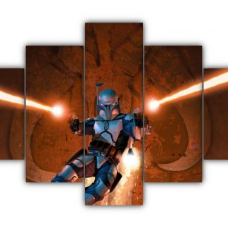 5 Panels Star Wars Bounty Hunter Multi Canvas Art