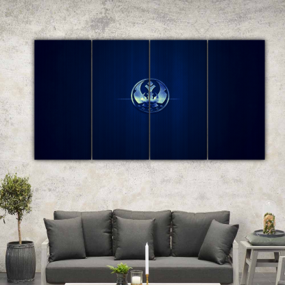 4 Panels Star Wars Jedi Order Multi Canvas Art