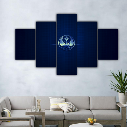 5 Panels Star Wars Jedi Order Multi Canvas Art