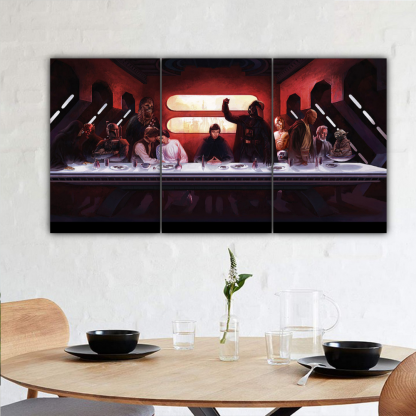 3 Panels Star Wars Last Meal Multi Canvas Art