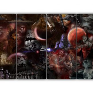 4 Panels Star Wars Montage Multi Canvas Art