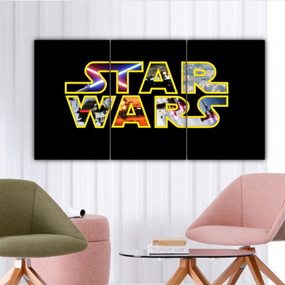 3 Panels Star Wars Poster Multi Canvas Art