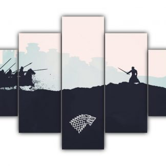 5 Panels The Battle Of Bastards Multi Canvas Art