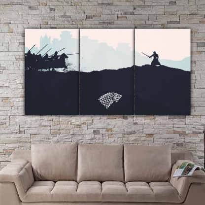 3 Panels The Battle Of Bastards Multi Canvas Art