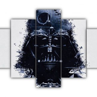 5 Panels The Face Of Vader Multi Canvas Art