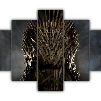 5 Panels The Iron Throne Multi Canvas Art