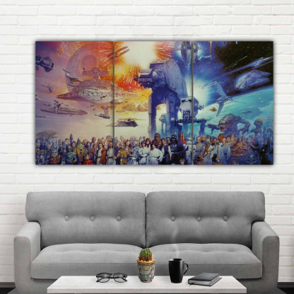 3 Panels The Star Wars world Multi Canvas Art