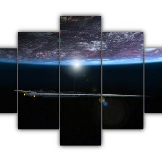 5 Panels Underneath The Planet Multi Canvas Art