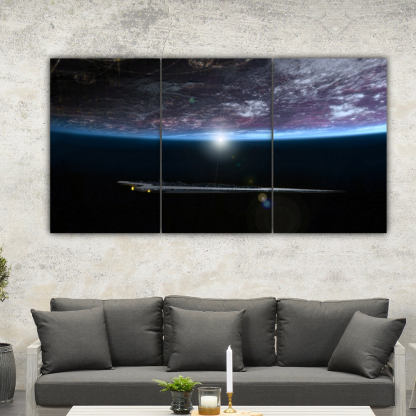 3 Panels Underneath The Planet Multi Canvas Art